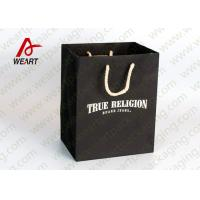 Quality Medium Size Brown Promotional Paper Bags Branded Flat Tape Rope for sale