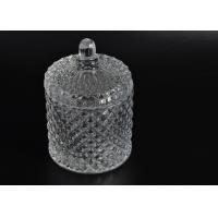 Quality Elegant White Glass Dome Candle Holder PersonalisedGlass Jars With Lid for sale