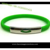 Quality promotional bulk cheap no minimum free shipping custom silicone bracelet for sale