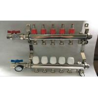 Quality Material Stainless Steel 304 Floor Heating Manifold With Two Ball Valve for sale