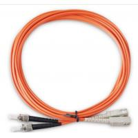 China LC ST Patch Cord For Telecom System , Duplex Fiber Optic Cable 2M 3M 5M 15M on sale