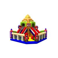 Quality Fun Double High Dry Slide Inflatable Bunce Castle With PVC Material England Style for sale