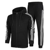 Quality Comfortable Cotton Mens Sports Tracksuits With Strip Any Size Available for sale