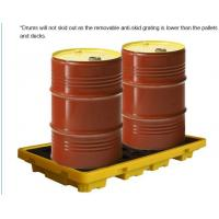 China Detachable plastic 4 drum oil spill pallet, 1300*660*150 mm 2 drum spill containment pallet, Nestable 2 drum spill conta on sale
