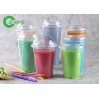 Quality Crystal Versatile Plastic Coffee Cups , 20 Oz Freezer Safe Plastic Smoothie Cups for sale
