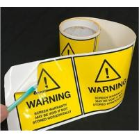 Buy High Strength Electronic Product Label Self Adhesive Eco Friendly at wholesale prices