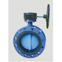 Quality worm gear operated double flange iso 5752 butterfly valve for sale