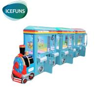 China 6 players train crane claw machine coin operated vending game machine for sale on sale