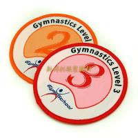 China 100% Polyester Multi Colored Custom Woven Patches For School Uniform Decor on sale