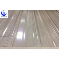 Quality Transparent Corrugated Clear Polycarbonate Roofing Sheets Wave Or Trapezoidal Type for sale