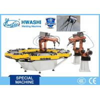 China HWASHI Six Axis MIG Industrial Welding Robots with Rotate Table on sale