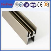Quality aluminum profile for wardrobe door supplier, polished aluminum extrusion profiles for sale