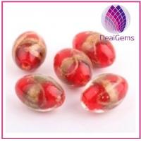 China Handcrafted beautiful mixed color lampworked glass beads for sale on sale