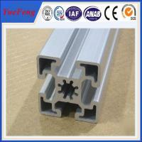 Quality supply aluminum extruded profile,  clear sliver t-slot anodized aluminum profile supplier for sale