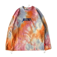 Quality Tye Dye Embroidered Anti Wrinkle Oversized Sweater Hoodie for sale