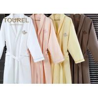 Quality White Flannel Cotton Hotel Quality Bathrobes Colorful Luxury Spa Robes for sale