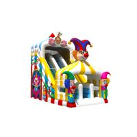 Quality Funny PVC Digital Painting High Inflatable Dry Slide Circus Clown for sale