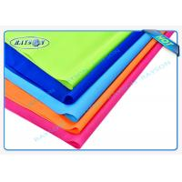 Quality Orange Blue Red Flame Retardant Nonwovens PP Spunbond Non Woven Fabric for Furnitures for sale