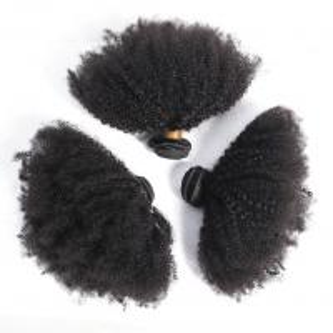 Buy cheap Afro Kinky Curly Bundles 100% Brazilian Human Virgin Hair For Black Women from wholesalers