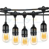 Buy cheap 200CM Hanging LED String Lights 15 Bulbs For Wedding Or Anniversary Party from wholesalers