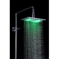 Quality Luxury Color Changing Rain Style Shower Head Stainless Steel 220 x 145 x 9.5mm for sale