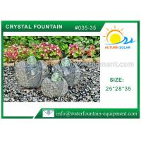Quality Artistic Cast Stone Garden Fountains Polished Surface With Three Crystal Glass Balls for sale