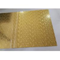 China Gold Mirror Embossed Aluminum Sheet , Embossed Aluminum Panels Construction Usage on sale