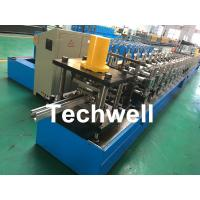 Quality Galvanized Steel / PPGI Guide Rail Roll Form Machines With Hydraulic Punching Device for sale