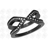 Buy cheap Stylish Cool Black Stainless Steel Engagement Rings Full Black Clear Cz from wholesalers