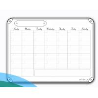 Quality Portable Weekly Wall Planner Whiteboard Aliuminium Frame Double Sizes for sale