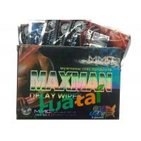 Quality Herbal Maxman Delay Wipes For Long Time Sex / Stop Premature Ejaculation for sale