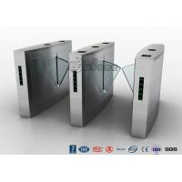 China Retractable Flap Barrier Turnstile Durable Anti Pinch Function Time Attendance System on sale