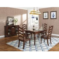 Quality Rubber Wood Home dining room furniture Long and round dining table with 4/6 people Chair can by Upholstered cushion seat for sale