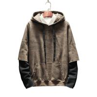 Autumn Mens Oversized Pullover Hoodie For Sports Xxxxl Size Plain Neck for sale
