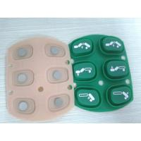 Quality Calculator / Typewriter Embossed Silicone Rubber Keypad With Silk Printing Graphic for sale