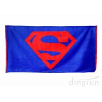 Quality Plain Style 100 Cotton Beach Towels Long Lasting Cooling Feel Customized Color for sale