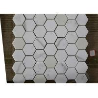 Polished Marble Hexagon Mosaic Tile , Marble Mosaic Bathroom Floor Tile for sale