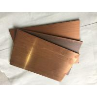 Quality Rustproof Copper Facade Panels 3mm Thickness , Outside Wall Cladding Panels  for sale