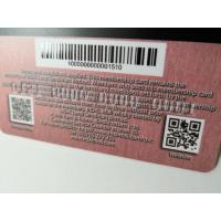 Buy Frosted PVC Business Cards With Barcode Hot Stamp Gold Foil Emboss Number at wholesale prices