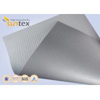 Quality Silver Grey Fiberglass Fire Resistant Welding Blanket Silicon Rubber Colored Fiberglass Cloth for sale