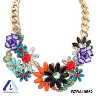 Buy cheap 2015 New Fashion Women Flower Necklace Trendy Sweater Chain Jewelry for Winter BZRA10552 from wholesalers