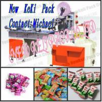 China high speed automatic pillow type lollipop candy packing machine different shaped bag package on sale