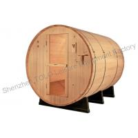 Quality Garden Barrel Sauna Room Stainless Steel Bands With Single / Three Phase for sale