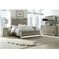 China Wooden Design King Size Mirrored Bed, Dresser Mirrored Bedroom Furniture Set on sale
