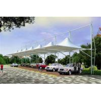 Quality High Peak Car Park Shade Structures , Membrane Steel Frame Car Canopy for sale