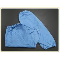 Quality Cleanroom Protection Oversleeve 65% polyester + 32% cotton + 3% conductive wire for sale