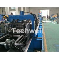 Quality Blue Cable Tray Roll Forming Machine  With Punch Machine & Hydraulic Pre - Cutting Device for sale