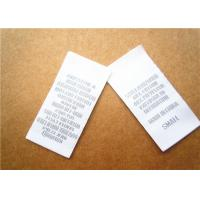 Quality Heat cut Clothing Label Tags woven for back neck label with customized logo for sale