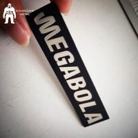 Quality Square Engraved Metal Label Plates Silkscreen Printing 0.8 / 1mm  Thick  Oem Logo for sale