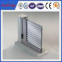 Quality oval solid aluminium louvre profile, sliver 6063 t5 aluminum extrusion blade louver panels for sale